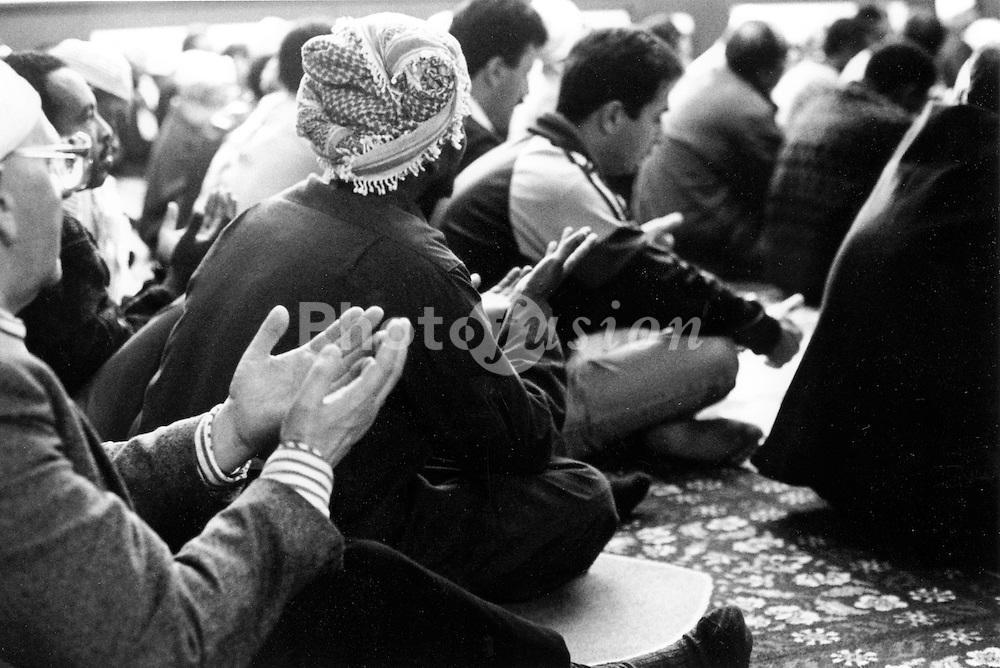 Friday prayers; Yemeni mosque; Bute Town; Cardiff