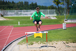 Anze Semenic during training of Slovenian Ski Jumping team, on May 22th, 2017 in Sports Park Kranj, Kranj, Slovenia. Photo by Ziga Zupan / Sportida