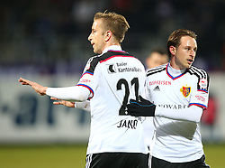 29.01.2016, Generali Arena, Wien, AUT, Testspiel, FK Austria Wien vs FC Basel, im Bild Marc Janko (FC Basel) und Luca Zuffi (FC Basel) // during a preperation Football Match between FK Austria Wien vs FC Basel at the Generali Arena in Vienna, Austria on 2016/01/29. EXPA Pictures © 2016, PhotoCredit: EXPA/ Thomas Haumer