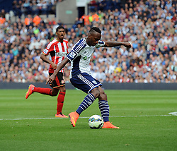 West Bromwich Albion's Saido Berahino shoots wide - Photo mandatory by-line: Joe Meredith/JMP - Mobile: 07966 386802 16/08/2014 - SPORT - FOOTBALL - West Bromwich - The Hawthorns - West Bromwich Albion v Sunderland - Barclays Premier League