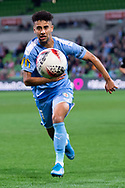 MELBOURNE, AUSTRALIA - SEPTEMBER 18: Ramy Najjarine (21) of Melbourne City runs to keep the ball in play during the FFA Cup Quarter Finals match between Melbourne City FC and Western Sydney Wanderers FC at AAMI Park on September 18, 2019 in Melbourne, Australia. (Photo by Speed Media/Icon Sportswire)