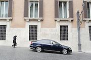 Auto blu parcheggiate in piazza Montecitorio, Roma 31 gennaio 2015.  Christian Mantuano / OneShot