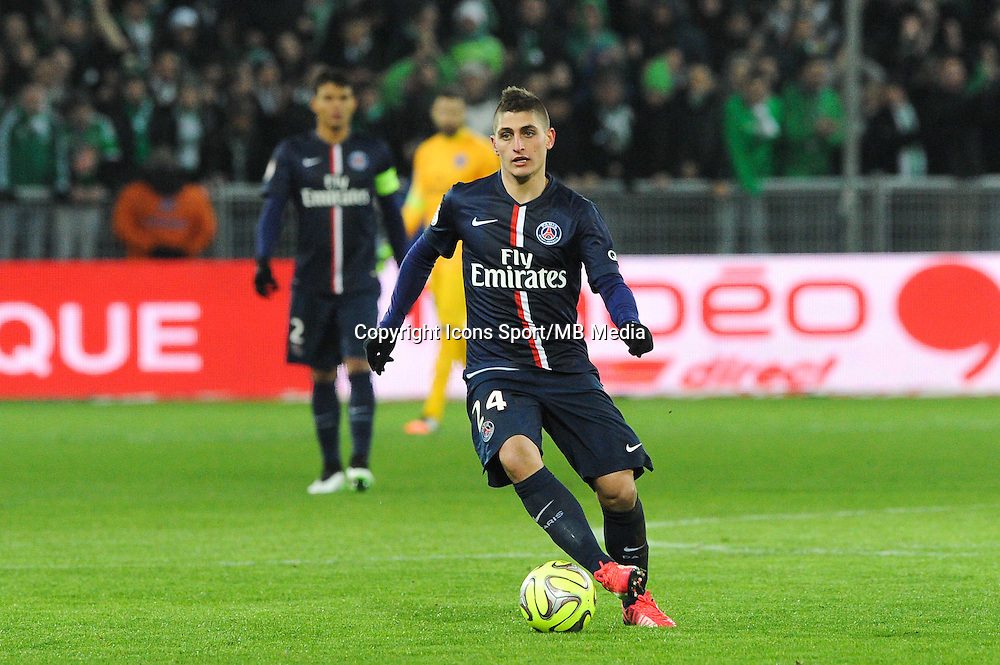 Marco VERRATTI - 25.01.2015 - Saint Etienne / PSG - 22eme journee de Ligue1<br /> Photo : Jean Paul Thomas / Icon Sport