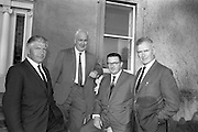 22/08/1966<br /> 08/28/1966<br /> 22 August 1966<br /> Blackrock College R.F.C. press conference at Stradbrook Road, Blackrock, Dublin, to announce the First ever Festival of Rugby at Blackrock College to be played on the 11 September 1966 on the Club's new grounds. Picture shows ex-Presidents of the Club (l-r): Mr. Frank Hogan (1960-1962); Mr. Dave O'Leary (1957-1959); Mr. Brian Kernan (1964-1966) and Mr. Phil Crowe (1955-1957).