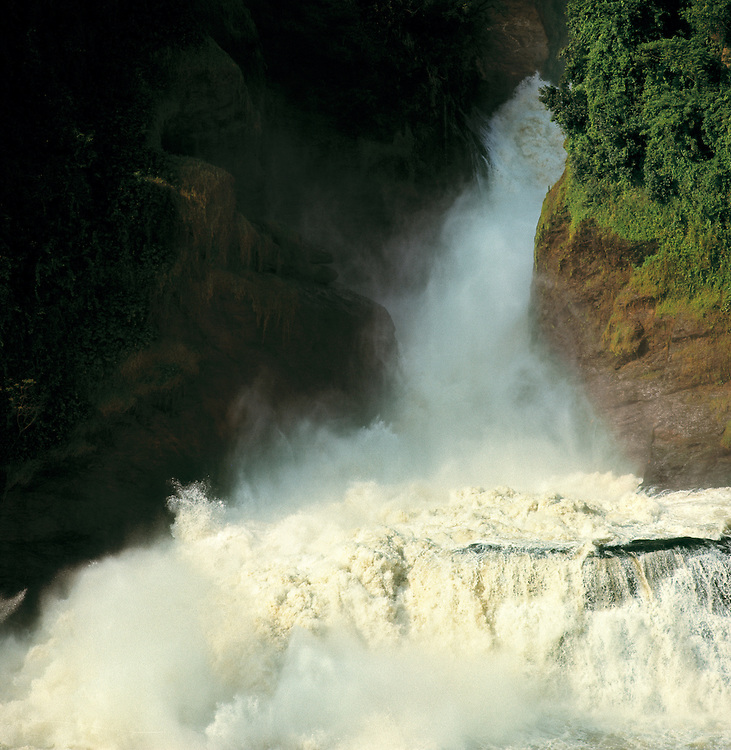 Mist rises from the ethereal Cataract, Murchison Falls, Murchison NP, Uganda.