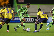 Forest Green Rovers Vaughn Covil(41)  on the ball during the Leasing.com EFL Trophy match between Forest Green Rovers and Coventry City at the New Lawn, Forest Green, United Kingdom on 8 October 2019.