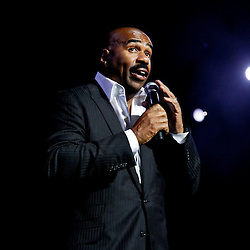 NEW ORLEANS, LOUISIANA - JULY 3: Comedian Steve Harvey performs in the ESSENCE.com Superlounge during the 2011 Essence Music Festival Day 3 at the Louisiana Superdome on July 3, 2011 in New Orleans, Louisiana. (Photo by Derick E. Hingle)
