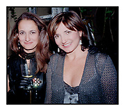 Isabel goldsmith & Dorrit Moussaieff at a party. October 1997.<br /> © Copyright Photograph by Dafydd Jones<br /> 66 Stockwell Park Rd. London SW9 0DA<br /> Tel 0171 733 0108