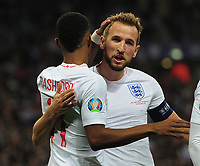 Football - 2019 / 2020 UEFA European Championships Qualifier - Group A: England vs. Montenegro<br /> <br /> Marcus Rashford of England celebrates scoring goal no 4 with Harry Kane, at Wembley Stadium.<br /> <br /> This game is England men's 1,000 international match.<br /> <br /> COLORSPORT/ANDREW COWIE