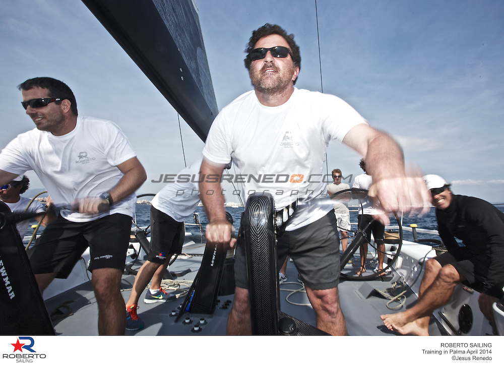 mini maxi robertissima jv 72, training in Mallorca, Spain, prior Palmavela 2014