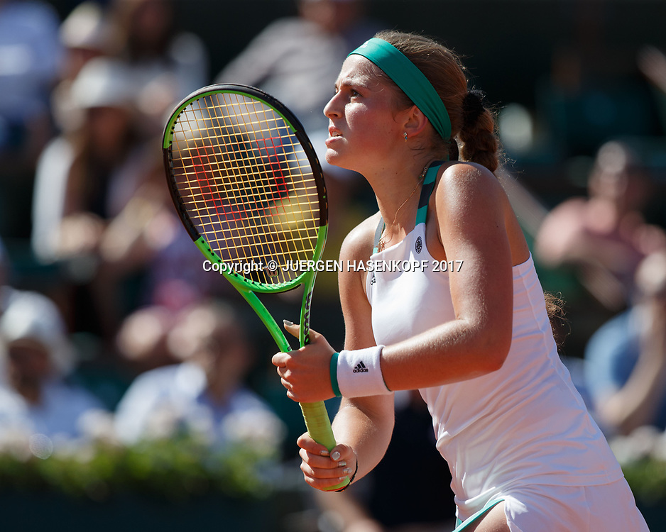 JELENA OSTAPENKO (LAT)<br /> <br /> Tennis - French Open 2017 - Grand Slam / ATP / WTA / ITF -  Roland Garros - Paris -  - France  - 8 June 2017.