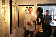 Mark Demsteader and Ed Gilmore, Private View of 'Icon' - life drawings of Erin O'Connor by   Mark Demsteader. Panter & Hall, 9 Shepherd Market, London 17 April 2007.  -DO NOT ARCHIVE-© Copyright Photograph by Dafydd Jones. 248 Clapham Rd. London SW9 0PZ. Tel 0207 820 0771. www.dafjones.com.