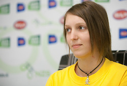 Maja Zugec, 12th player of NK Domzale during press conference of Hervis Cup 2011, on May 23, 2011 in Stozice, Ljubljana, Slovenia. NK Domzale and NK Maribor will play in the Final of Hervis Cup 2011 at Stozice Stadium.  (Photo By Vid Ponikvar / Sportida.com)