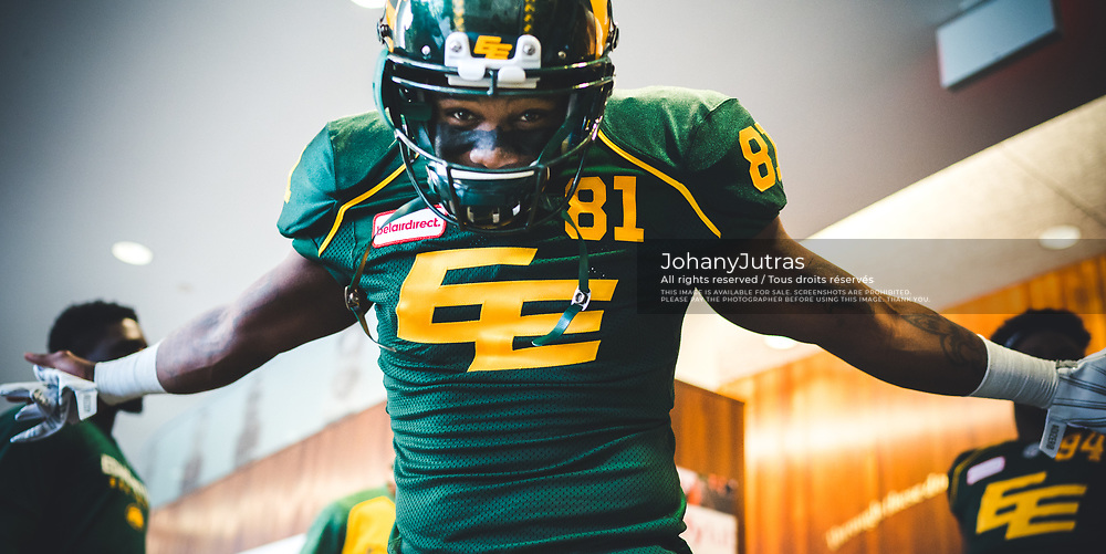 D'haquille Williams (81) of the Edmonton Eskimos before the game against the Calgary Stampeders at Commonwealth Stadium in Edmonton AB, Saturday, September 9, 2017. (Photo: Johany Jutras)