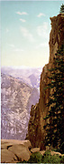 Glacier Point, Yosemite Valley. photomechanical print : photochrom, color. c1899. By William Henry Jackson.1843-1942, photographer.