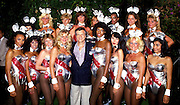 October 13, 2015 - <br /> <br /> Playboy Magazine Abandons Nude Photos<br /> <br /> File - The decision, taken by Playboy founder and current editor-in-chief Hugh Hefner, 89, came during a meeting last month. The mag, which first published in 1953, will still feature pictures of women in 'provocative poses' but will abandon the publication of totally nude, pornographic images. Since the advent of the Internet, such photographs are no longer commercially viable. Pictured: 1983 - Hugh Hefner and the Playboy Bunny's. <br /> ©Exclusivepix Media