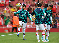 Football - 2019 Emirates Cup - Arsenal vs. Lyon<br /> <br /> Arsenal's Dani Ceballos during the pre-match warm-up, at the Emirates Stadium.<br /> <br /> COLORSPORT/ASHLEY WESTERN