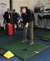Willie Rennie, Cluny golf, 10-4-2016<br /> <br /> Willie visits Local outdoor activity centre Cluny Golf<br /> <br /> (c) David Wardle | Edinburgh Elite media