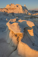 Bisti Badlands hoodoos at sunset, Bisti/De-Na-Zin Wilderness, New Mexico