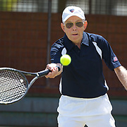 Richard Emmert, USA, in action in the 80 Mens singles during the 2009 ITF Super-Seniors World Team and Individual Championships at Perth, Western Australia, between 2-15th November, 2009.