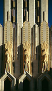 OK, Tulsa, Art deco faÁade of the Boston Avenue Methodist Church.