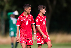 WREXHAM, WALES - Thursday, August 15, 2019: Cyprus' Malta's Ensell Attard during the UEFA Under-15's Development Tournament match between Cyprus and Malta at Colliers Park. (Pic by Paul Greenwood/Propaganda)