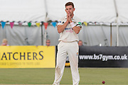 5 Wickets - Ryan Higgins takes 5 wickets during the Specsavers County Champ Div 2 match between Gloucestershire County Cricket Club and Leicestershire County Cricket Club at the Cheltenham College Ground, Cheltenham, United Kingdom on 18 July 2019.