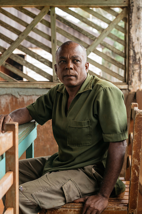Jesus Ymbert Planas, the chief of the forest station in Humbolt National Park on Jan. 30, 2016. Planas, who lives in the pine forrest, says he hasn't seen any ivory-billed woodpeckers, but says they don't have the adequate resources to search for them.