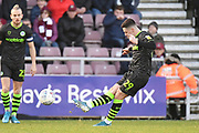 Forest Green Rovers forward (on loan from Celtic) Jack Aitchison (29)  takes a free kick during the EFL Sky Bet League 2 match between Northampton Town and Forest Green Rovers at the PTS Academy Stadium, Northampton, England on 14 December 2019.