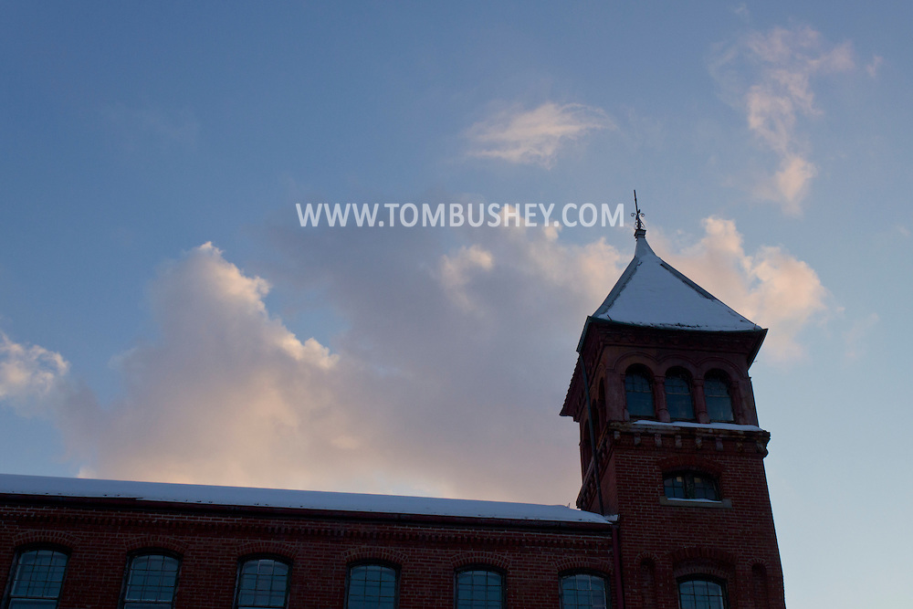 Middletown, New York - The Clemson Bros. building at sunset on Feb. 18, 2014.
