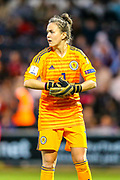 Lee Alexander (#1) of Scotland during the 2019 FIFA Women's World Cup UEFA Qualifier match between Scotland Women and Switzerland at the Simple Digital Arena, St Mirren, Scotland on 30 August 2018.