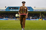 A Royal Engineer after presenting a wreath before the EFL Sky Bet League 1 match between Gillingham and Northampton Town at the MEMS Priestfield Stadium, Gillingham, England on 12 November 2016. Photo by Martin Cole.