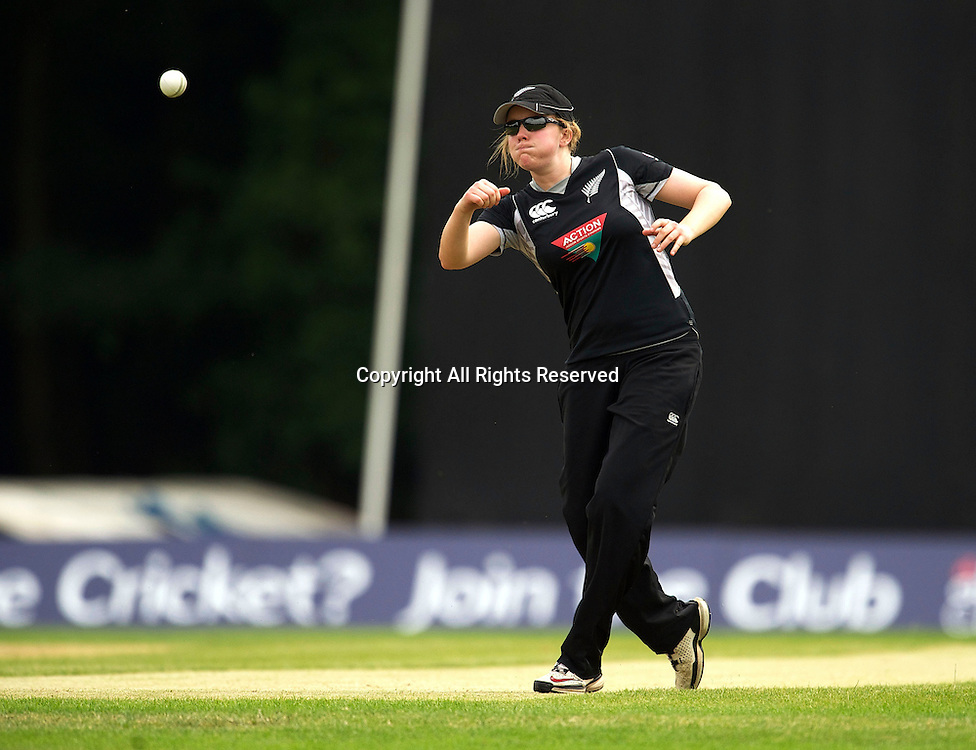 5.7.11 Southgate, England. Janet Brehaut of White Ferns during the India Women vs White Ferns NatWest Womens Quadrangular Series Women's One-Day Match at The Walker Cricket Ground, Southgate.