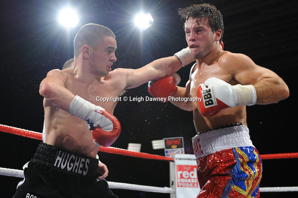 Joe Hughes defeats Tony Pace's debut fight in a Light Welterweight contest at the Doncaster Dome, Doncaster, UK, 3rd September 2011. Frank Maloney Promotions. Photo credit: Leigh Dawney 2011