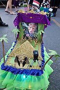 The 'tit Rex micro Mardi Gras parade