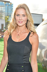 DONNA AIR at the launch of the Orangina Boulers Rooftop Petanque held on the top floor of the Stratford Multistorey Car Park, Great Eastern Way, London E15 on 26th August 2015.
