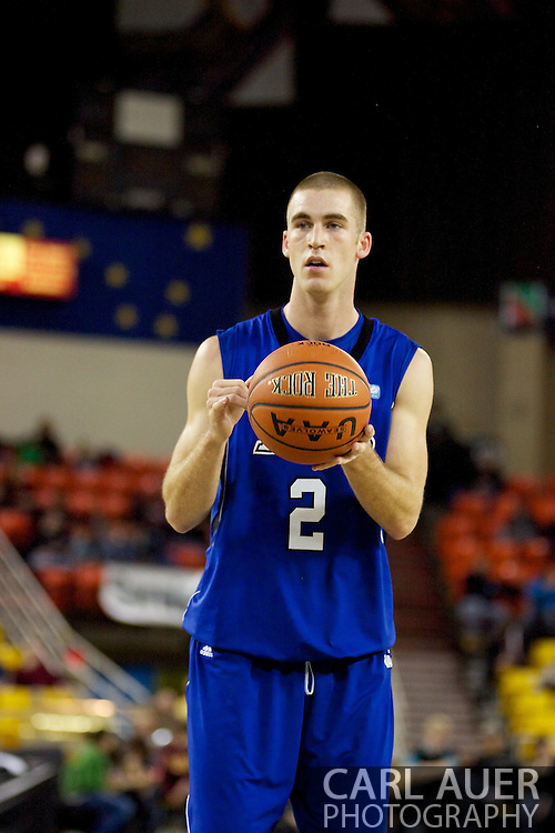 November 26th, 2010:  Anchorage, Alaska - Drake Bulldog sophomore forward Aaron Hawley (2) in the Bulldog's loss to St. Johns at the Great Alaska Shootout.  The Red Storm defense held Drake to a tournament low score as St. Johns advanced to the final game 82-39.