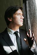 PARIS - FRANCE:  Singer Thomas Dutronc poses for an exclusive portrait session in Paris on March 24, 2009 (Photo by Tony Barson/BarsonImages)