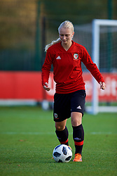 NEWPORT, WALES - Tuesday, November 6, 2018: Wales' Elise Hughes during a training session at Dragon Park ahead of two games against Portugal. (Pic by Paul Greenwood/Propaganda)