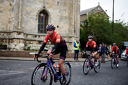 Lisa Klein (GER) makes her way to sign on for Stage 1 of 2019 OVO Women's Tour, a 157.6 km road race from Beccles to Stowmarket, United Kingdom on June 10, 2019. Photo by Sean Robinson/velofocus.com