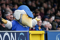 AFC Wimbledon mascot tries to get the crowd going - Mandatory by-line: Arron Gent/JMP - 16/02/2019 - FOOTBALL - Cherry Red Records Stadium - Kingston upon Thames, England - AFC Wimbledon v Millwall - Emirates FA Cup fifth round proper