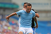 SS Lazio's Stefan de Vrij during the Pre-Season Friendly match between Brighton and Hove Albion and SS Lazio at the American Express Community Stadium, Brighton and Hove, England on 31 July 2016.