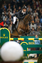 Guerdat Steve (SUI) - Nino des Buissonnets <br /> Winner of the Rolex Grand Prix de Geneve<br /> CHI Geneve 2013<br /> © Dirk Caremans