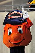 Sept. 4, 2010; Akron, OH, USA; The Syracuse Orange mascot during the third quarter against the Akron Zips at InfoCision Stadium. Syracuse beat Akron 29-3. Mandatory Credit: Jason Miller-US PRESSWIRE