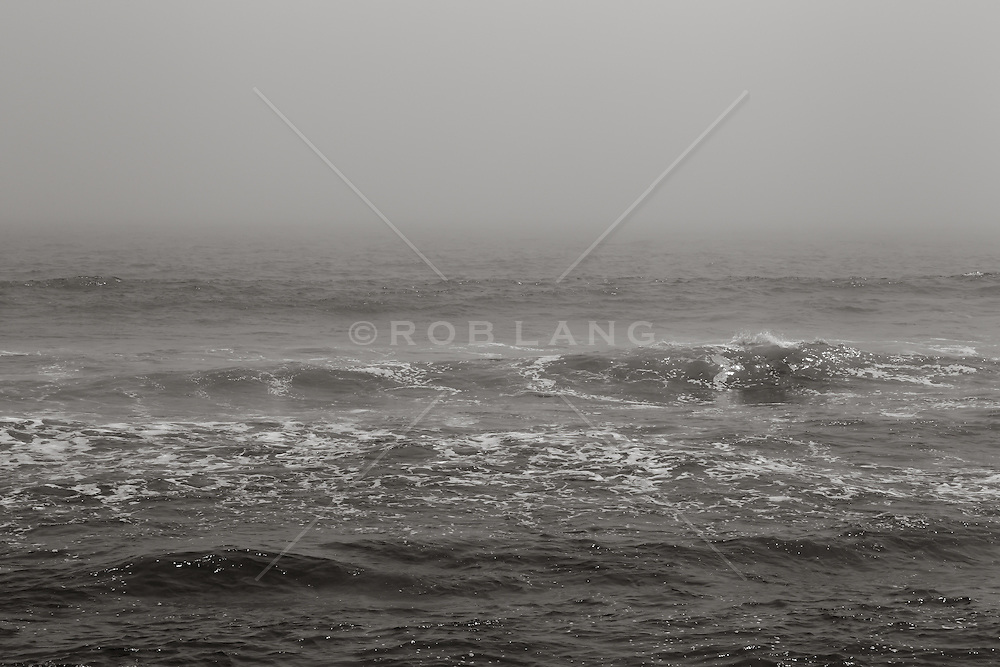 The Atlantic Ocean on a foggy day