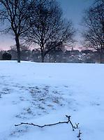 Twilight over University Hill, Providence, Rhode Island
