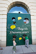 Vienna. MuseumsQuartier (MQ Vienna) is celebrating its 10th year..Fliegendes Klassenzimmer (Flying Classroom).