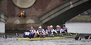 Cambridge, USA, Collegiate Men's Eights, Williams College BC.  the John Weeks footbridge during the  2009 Head of the Charles  Sunday  18/10/2009  [Mandatory Credit Peter Spurrier Intersport Images],.