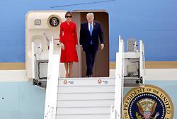July 13, 2017 - Paris, Paris, Frankreich - Donald Trump mit Gattin Malenia bei der Ankunft auf dem Flughafen Orly. Paris, 13.07.2017 (Credit Image: © Future-Image via ZUMA Press)