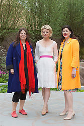 © Licensed to London News Pictures. 20/05/2013. London, England. L-R: Garden designer Jinny Blom, actress Emilia Fox and presenter Kirsty Allsopp. Celebrities at Press Day Monday of the RHS Chelsea Flower Show. Photo credit: Bettina Strenske/LNP